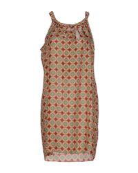 Robert Friedman | Orange Short Dress | Lyst