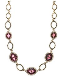 Judith Jack | Metallic Marcasite And Crystal Necklace | Lyst