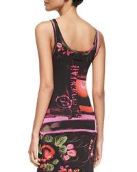 Jean Paul Gaultier - Pink Printed Fringe-Bottom Tank Dress - Lyst