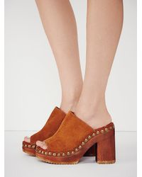 Free People - Brown Jeffrey Campbell X Womens Sonny Wood Mule - Lyst