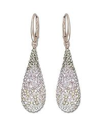 Swarovski | Pink Abstract Nude Pierced Earrings | Lyst