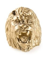 Ela Stone | Metallic Lion Ring | Lyst