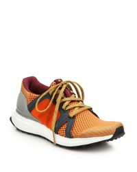 Adidas By Stella McCartney - Orange Ultra Boost Lace-Up Sneakers - Lyst