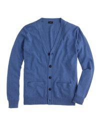 J.Crew - Blue Cotton-Cashmere Cardigan for Men - Lyst