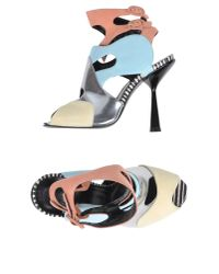 Pierre Hardy - Blue Sandals - Lyst