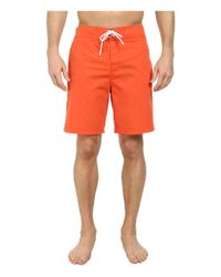 "Lacoste | Orange Poplin Board Swim Short 8"" for Men 