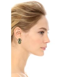 Erickson Beamon - Young & Innocent Earrings - Black/clear - Lyst