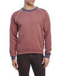 Alternative Apparel - Red Pipeline Champ Sweatshirt for Men - Lyst