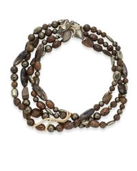 Alexis Bittar | Elements Phoenix Pyrite & Black Moonstone Torsade Necklace | Lyst