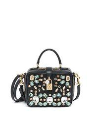 Dolce & Gabbana - Black Embellished Camera Bag - Lyst