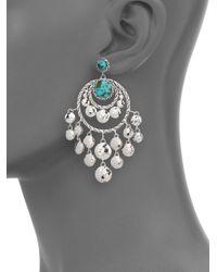 John Hardy - Metallic Palu Turquoise & Sterling Silver Matrix Chandelier Earrings - Lyst
