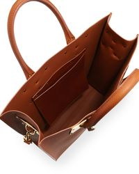 Sophie Hulme   Brown Leather Tote Bag with Whistle Charm Tan   Lyst