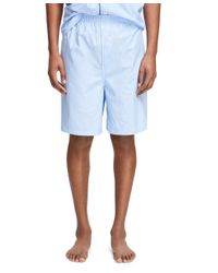 Brooks Brothers - Blue Split Check Pajama Set With Shorts for Men - Lyst
