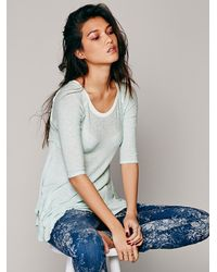 Free People - Green Intimately Womens Weekends Layering Top - Lyst
