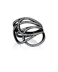 Repossi - Black La Ligne C Layered Ring - Lyst