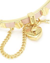 Juicy Couture | Pink Heart Padlock And Screw Enamel Bangle Bracelet | Lyst