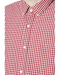 French Connection - Red Core Silicon Connery Check Slim Fit Shirt for Men - Lyst