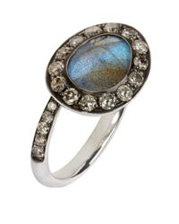 Annoushka | Blue Dusty Diamonds Labradorite Side Ring | Lyst