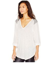 Sanctuary - White Embroidered Peasant Top - Lyst