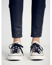 Free People | White Converse Womens Vintage Leather Low Tops | Lyst