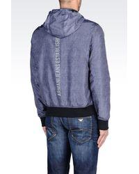 Armani Jeans | Blue Full Zip Hooded Blouson for Men | Lyst