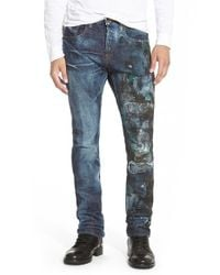 PRPS - Blue 'demon - Noir Polaris' Straight Leg Jeans for Men - Lyst