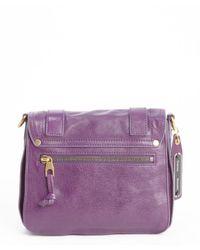 Proenza Schouler   Royal Purple Leather 'Ps1 Pouch' Buckle Strap Shoulder Bag   Lyst