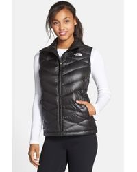 The North Face - Black 'aconcagua' Down Vest - Lyst