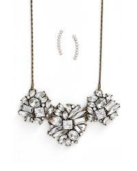 BaubleBar   Metallic 'Shard' Statement Necklace & Ear Crawler Gift Set - Antique Gold (Nordstrom Exclusive)   Lyst