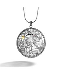 John Hardy - Metallic Heritage Limited Edition Large Round Pendant On Chain Necklace - Lyst