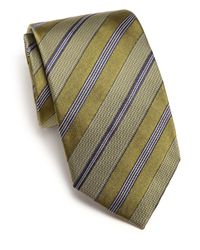 Eton of Sweden | Green Textured Striped Tie for Men | Lyst
