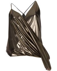 Haider Ackermann - Metallic Draped Top - Lyst