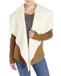 John + Jenn | Brown Faux Shearling Jacket | Lyst