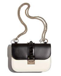 Valentino - Black Mini Lock Bicolor Shoulder Bag - Lyst