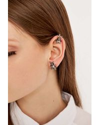Cheap Monday - Metallic Fly Earring And Cuff In Silver - Lyst