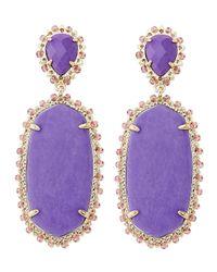 Kendra Scott - Purple Parsons Clip-on Earrings - Lyst