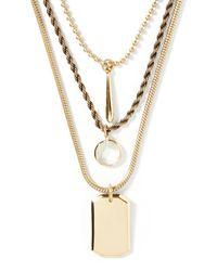 Banana Republic | Metallic Dog Tag Necklace | Lyst