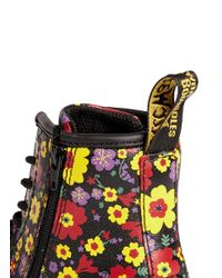 Dr. Martens - Multicolor 'Brooklee' Floral Print Leather Infant Boots for Men - Lyst
