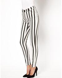 Just Female | Black Striped Skinny Jean | Lyst