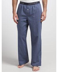 Tommy Hilfiger | Blue Jil Woven Herringbone Lounge Pants for Men | Lyst