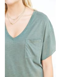 BDG - Green Duffy Dolman-sleeve Tee Dress - Lyst