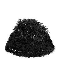Marni | Black Fringed Pvc Beanie | Lyst