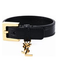 Saint Laurent | Metallic Buckled Bracelet | Lyst