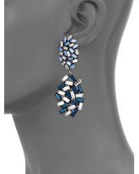DANNIJO | Metallic Mayfield Crystal Drop Earrings | Lyst