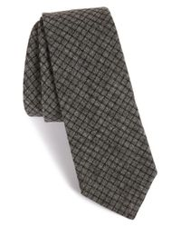 W.r.k. - Black Check Cotton Tie for Men - Lyst