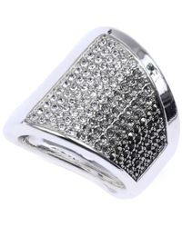 Judith Jack | Metallic Sterling Silver Crystal (9/10 Ct. T.w.) And Marcasite (4/5 Ct. T.w.) Pavé Ring | Lyst