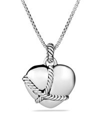 David Yurman - Metallic Cable Heart Pendant - Lyst