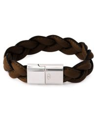 Valentino - Brown Braided Bracelet for Men - Lyst