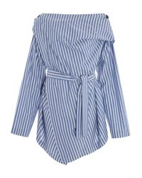 Vivienne Westwood Anglomania | Blue Striped Square Blouse | Lyst