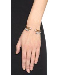 Vita Fede | Metallic Open Crystal Bracelet - Silver/clear | Lyst